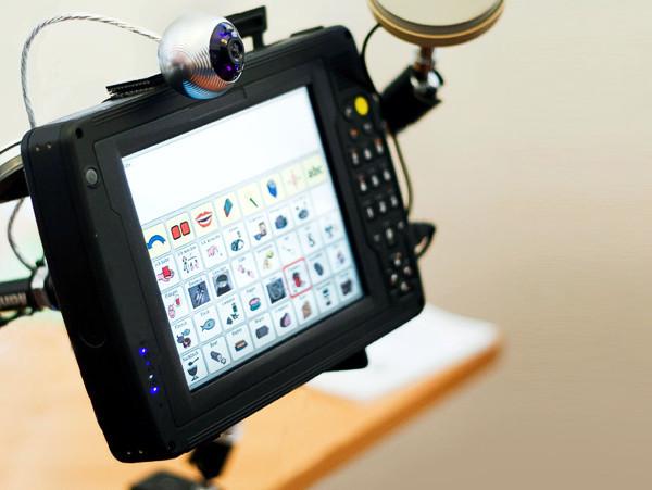 Bildschirm mit Kommunikationssteuerung